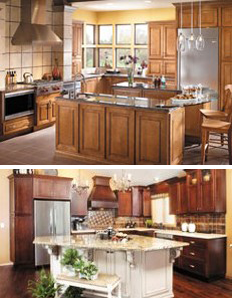 Two Different Color Granite Countertops In St. Louis, MO